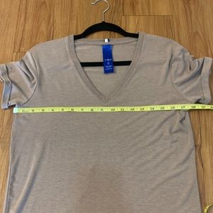 Kit and Ace Tops - Kit and Ace Movement V-neck Brown Tee